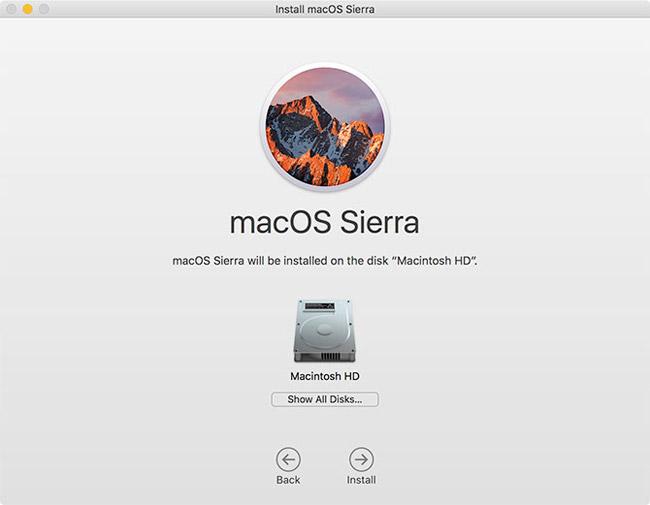 Nâng cấp phiên bản macOS chính