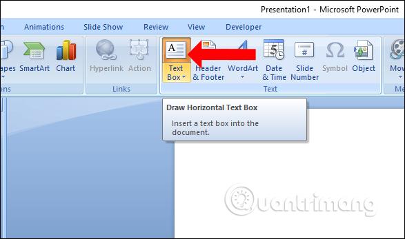Text box trong Insert