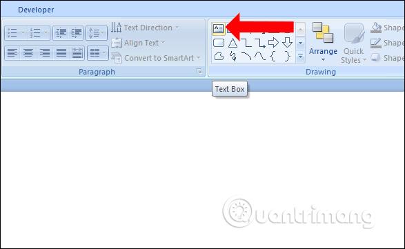 Nhấn chọn Text box