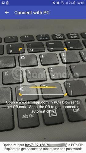 Công cụ quét mã QR của Software Data Cable