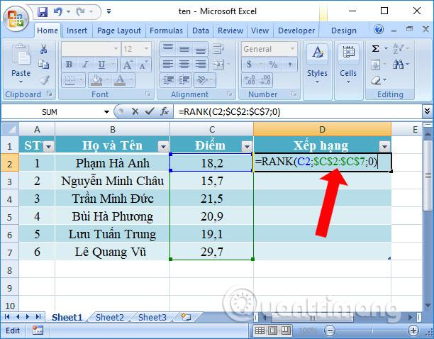 Đổi dấu công thức Excel