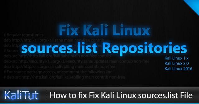 Cách sửa file sources list trên Kali Linux - Quantrimang com