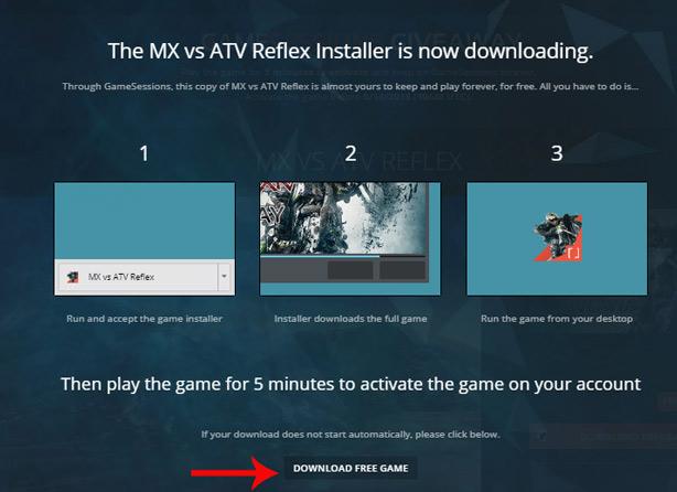 Tệp cài đặt trò chơi sẽ được tải xuống tự động