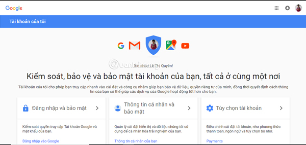 Truy cập vào địa chỉ Google