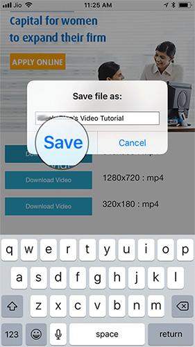 Nhấn Save để tải video Twitter về điện thoại