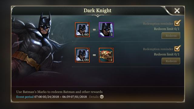 Thay đổi tướng Batman