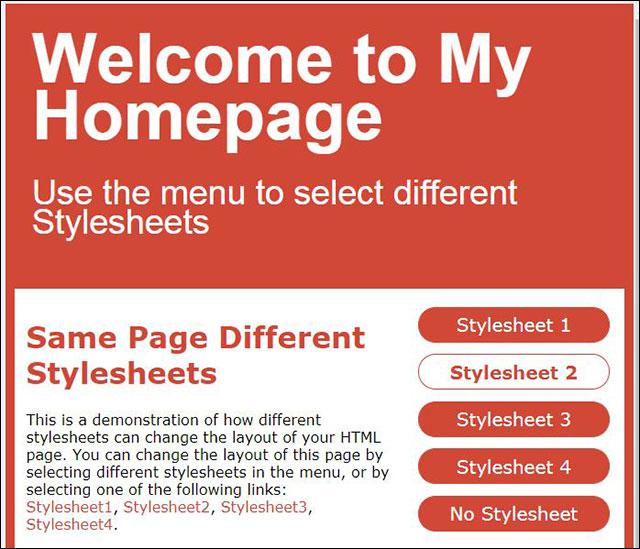 Trang HTML kiểu thứ hai