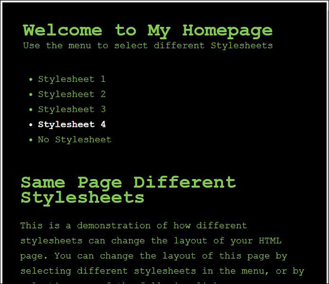 Trang HTML kiểu thứ tư