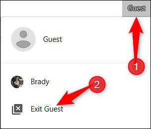 Thoát chế độ Guest Mode sau khi dùng xong trình duyệt
