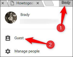 Bật chế độ Guest Mode khi dùng chung Chrome với người khác