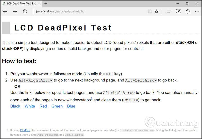 Công cụ LCD DeadPixel Test