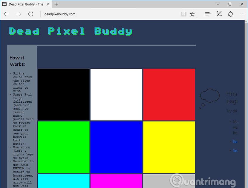 Công cụ Dead Pixel Buddy