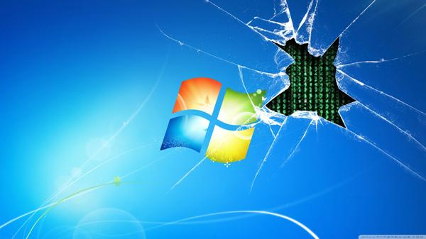 Hình nền màn hình vỡ cực kỳ độc đáo cho laptop 9