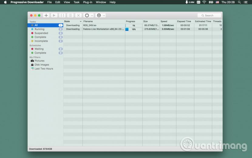 Phần mềm Progressive Downloader