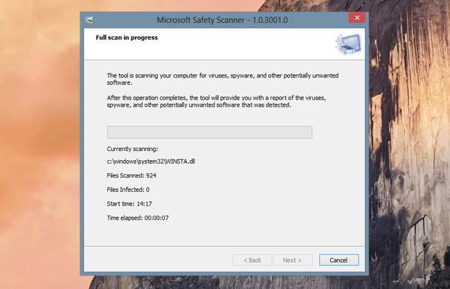 Microsoft Safety Scannner