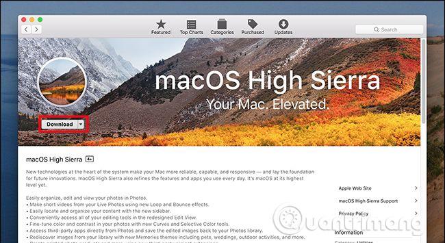 Tải phiên bản mới nhất của Mac