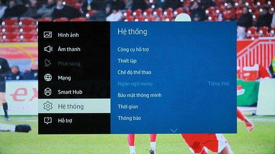 Cách bật chế độ thể thao trên tivi Samsung