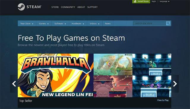 Tải xuống trò chơi miễn phí trên Steam