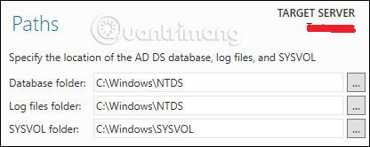 Xác định vị trí các file và database