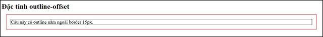Tạo khoảng cách giữa outline và border của phần tử