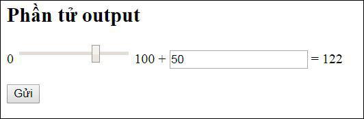 Giá trị đầu ra được tính toán ngay khi chọn giá trị đầu vào