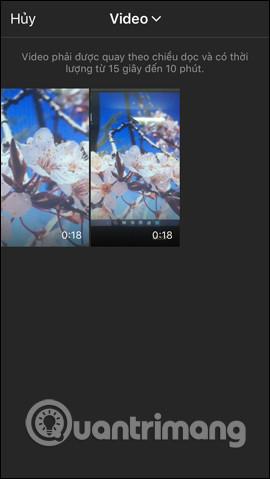 Chọn video cho kênh