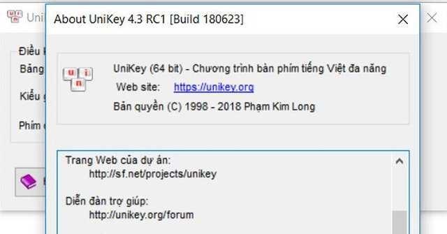 Mời cập nhật Unikey 4.3 RC3 mới: Sửa lỗi gõ tiếng Việt trên Chrome, Edge