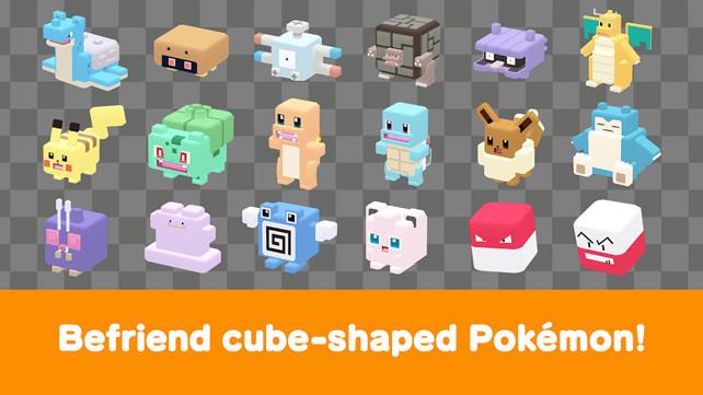 Pokémon Quest được thiết kế với hình ảnh cơ thể quà tặng