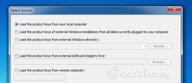 Khôi phục Product Key của Windows - Quantrimang com