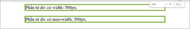 Đặc tính width trong CSS