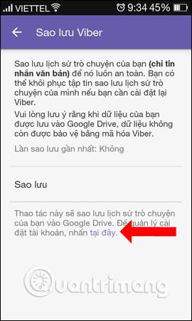 Sao lưu qua Google Drive