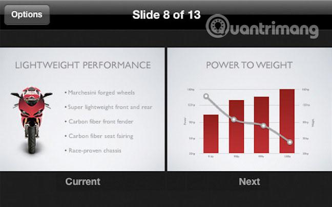 Slide trong Keynote