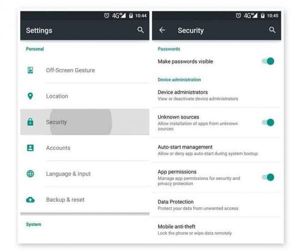 Bật chế độ cho phép cài ứng dụng ngoài Google Play Store