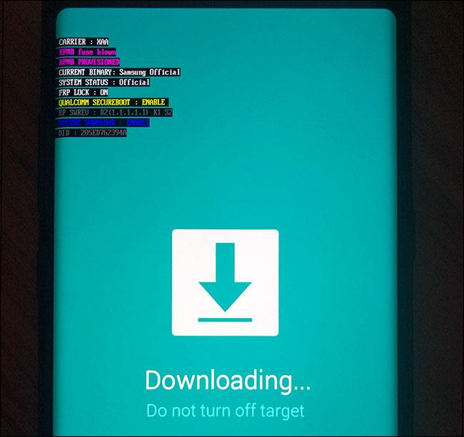 Truy cập vào chế độ Download mode