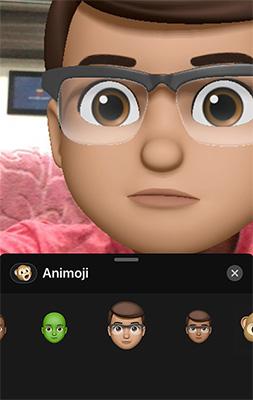 Animoji được dùng thay cho khuôn mặt