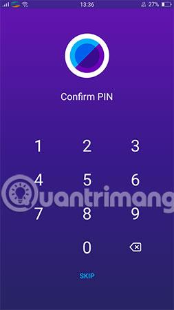 Với Android, bạn chọn 4 số đặt làm mã PIN