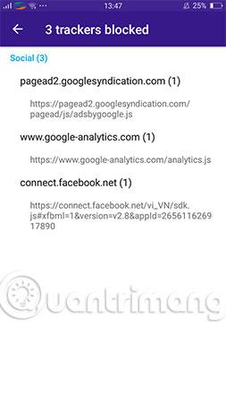 Khả năng chặn quảng cáo và những hành vi theo dõi người dùng