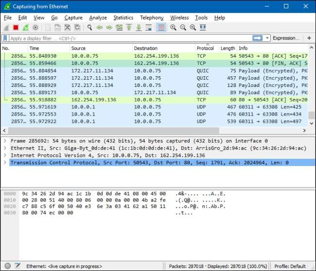 Phân tích gói tin trong hệ thống mạng