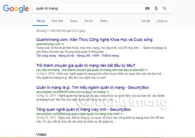 Gõ từ khóa vào trang tìm kiếm Google để trải nghiệm ngay