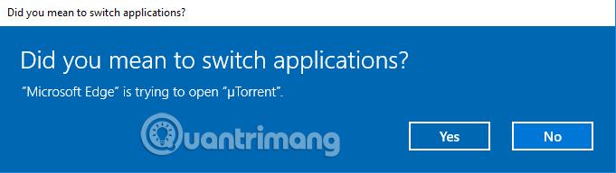 Thông báo mở ứng dụng Bittorrent