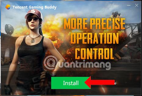 Nhấn nút Install
