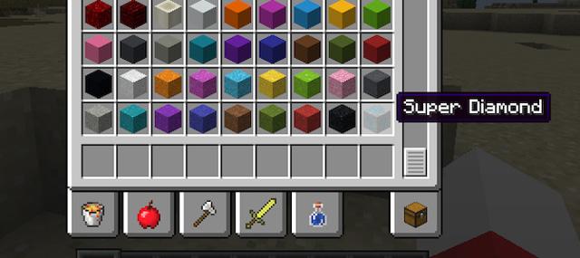 Siêu kim cương Mod với các khối khác