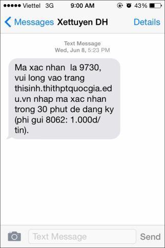 Xác nhận tin nhắn