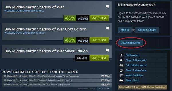 Tải xuống miễn phí Mid-world: Shadow of the War DEMO