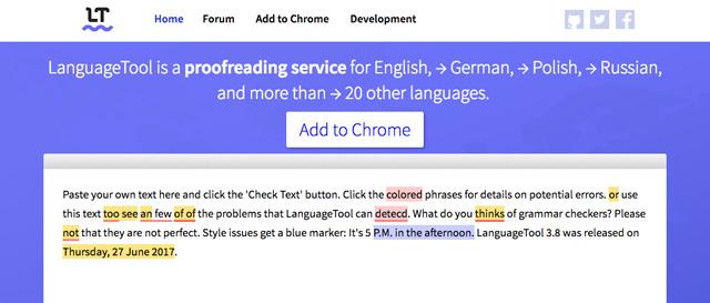 Công cụ LanguageTool