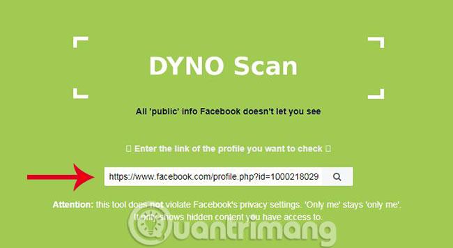Bạn vào trang chủ của Facebook Scanner