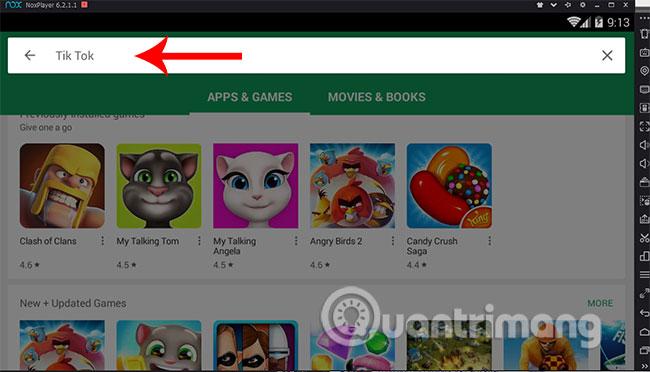 Tìm kiếm ứng dụng Tik Tok