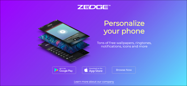 Trang web Zedge