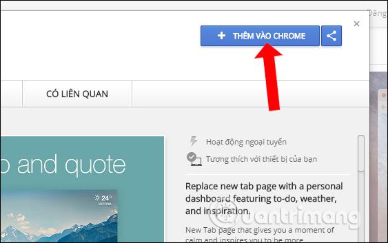 Cài tiện ích trên Chrome