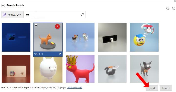 Chèn mô hình 3D trực tuyến